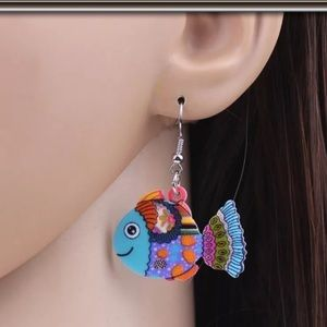 Acrylic Fish Earrings